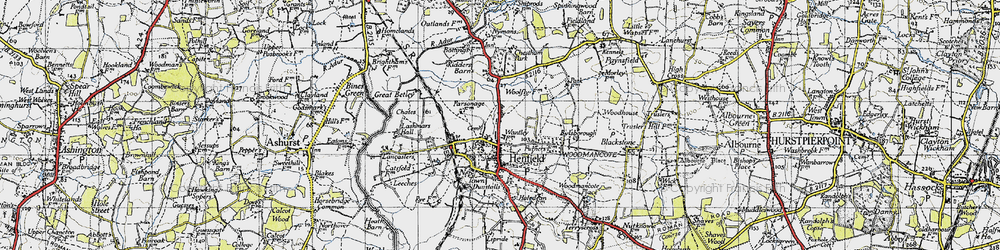Old map of Woodhouse in 1940
