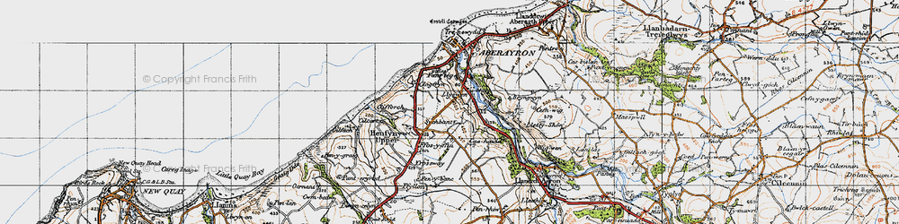 Old map of Wig-wen in 1947
