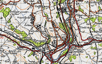 Old map of Hengoed in 1947