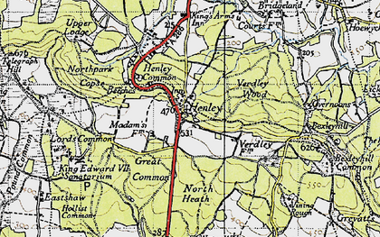 Old map of Henley in 1940