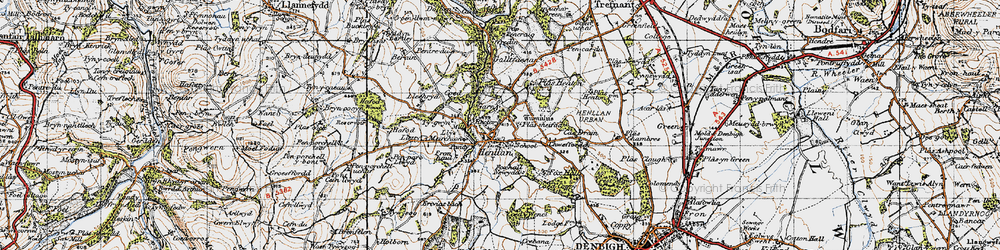 Old map of Y Gorlan in 1947
