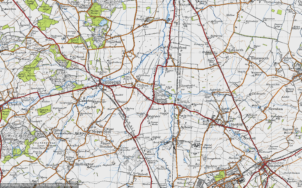 Old Map of Henlow, 1946 in 1946