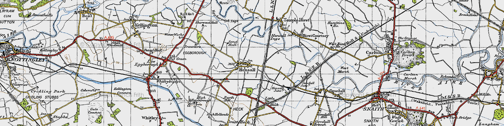 Old map of Hensall in 1947