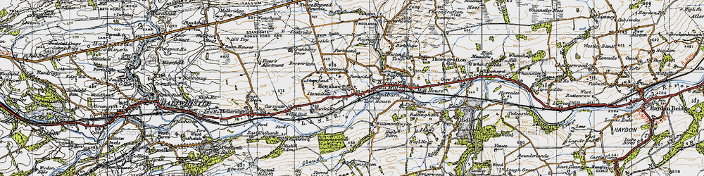 Old map of Allensgreen in 1947