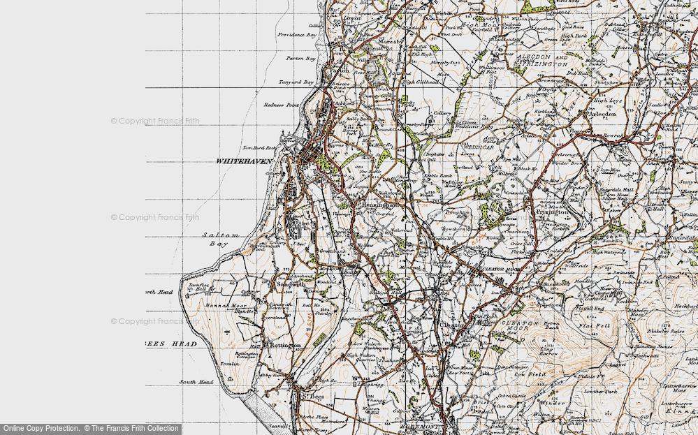 Old Map of Hensingham, 1947 in 1947