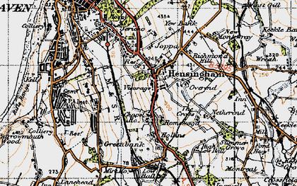 Old map of Hensingham in 1947