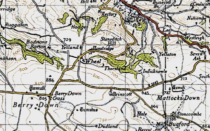Old map of Yellaton in 1946