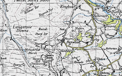 Old map of Henwood in 1946