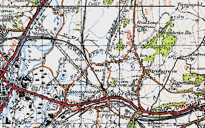 Old map of Heol Las in 1947