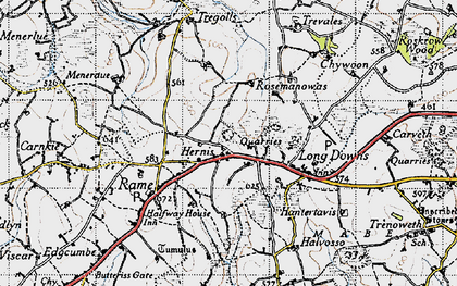 Old map of Herniss in 1946
