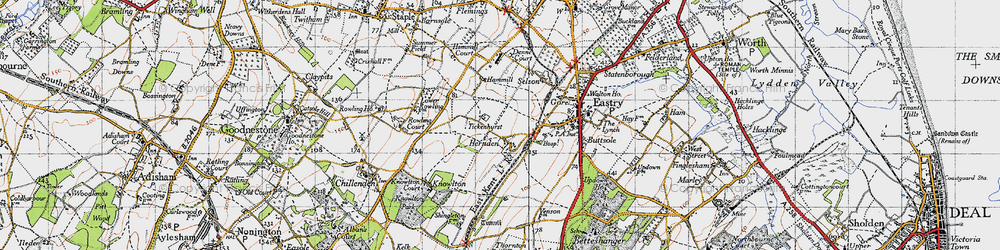 Old map of Tickenhurst in 1947