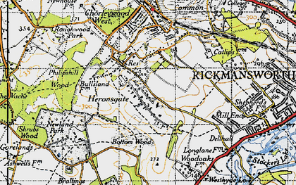 Old map of Heronsgate in 1946