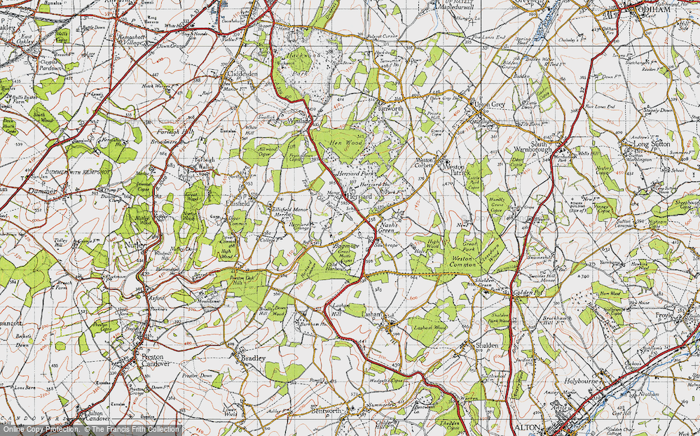 Old Map of Herriard, 1945 in 1945