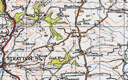 Old map of Hersham in 1946