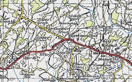 Old map of Herstmonceux in 1940