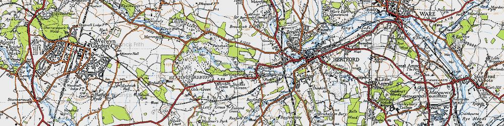 Old map of Hertingfordbury in 1946