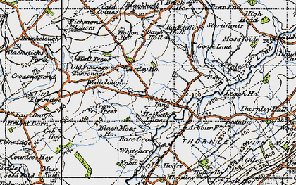 Old map of Astley Ho in 1947