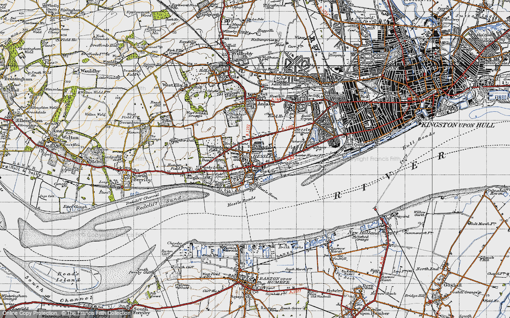 Old Map of Hessle, 1947 in 1947