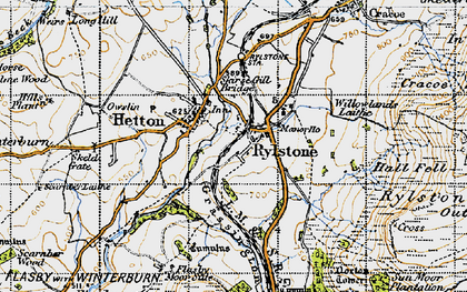 Old map of Willowlands Laithe in 1947