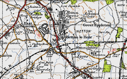 Old map of Hetton-Le-Hole in 1947