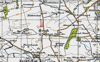 Old map of Westerheugh in 1947