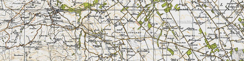 Old map of Wharton Ho in 1947