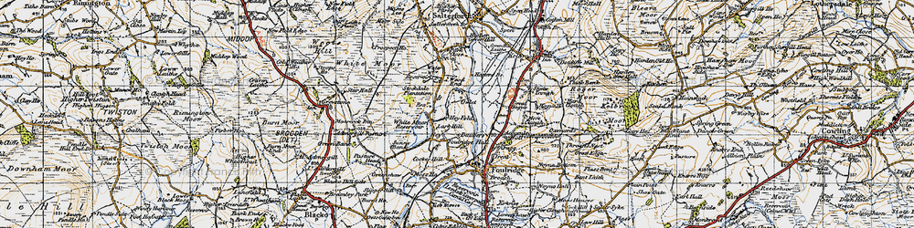 Old map of Admergill Pasture in 1947