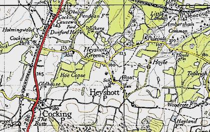 Old map of Heyshott in 1940