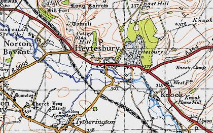 Old map of Heytesbury in 1940