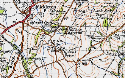 Old map of Baker's Hill in 1946