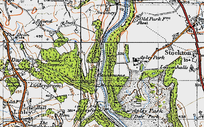 Old map of Bagley's Rough in 1946