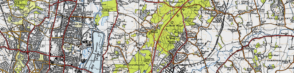 Old map of Whitehouse Plain in 1946