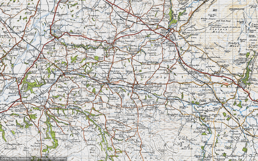 Old Map of High Bentham, 1947 in 1947