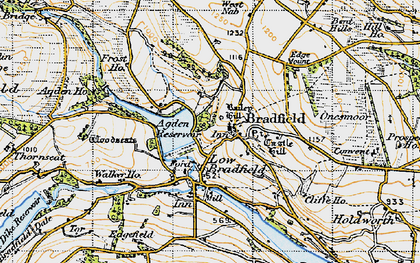 Old map of Agden Resr in 1947