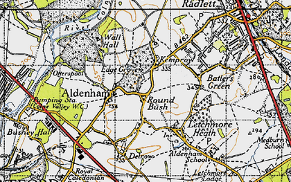 Old map of High Cross in 1946