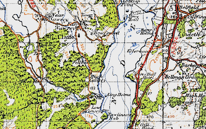 Old map of Bark House Wood in 1947