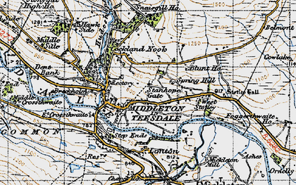 Old map of West Stotley in 1947