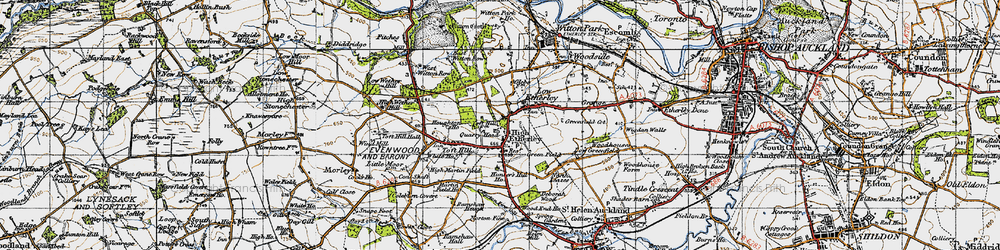 Old map of High Etherley in 1947