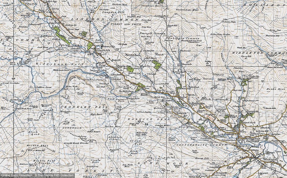 Old Map of Historic Map covering Wool Ingles in 1947