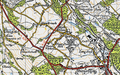 Old map of Westwood Country Park in 1947