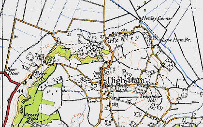Old map of High Ham in 1945