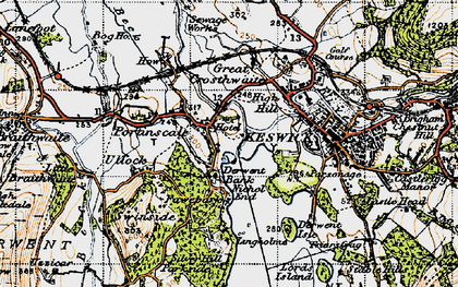 Old map of Lingholm in 1947