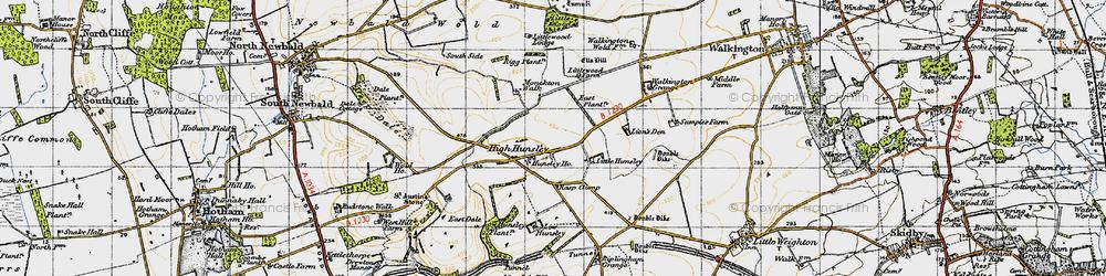 Old map of Lion's Den in 1947