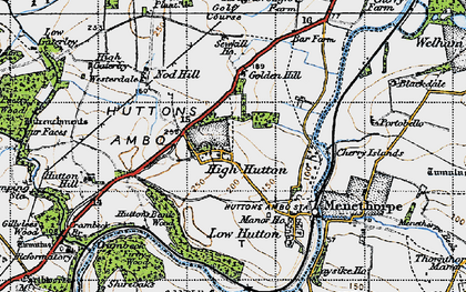 Old map of Westerdale in 1947