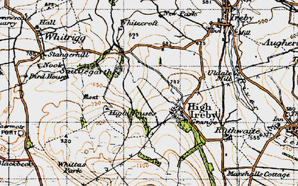 Old map of Whittas Park in 1947