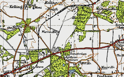 Kelling Heath Map Kelling Heath photos, maps, books, memories   Francis Frith