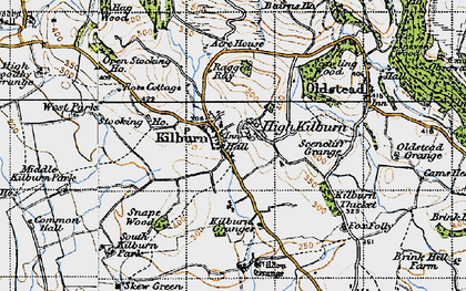 Old map of Acre Ho in 1947