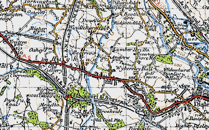 Old map of Wybersley Hall in 1947