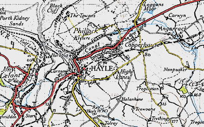 Old map of High Lanes in 1946
