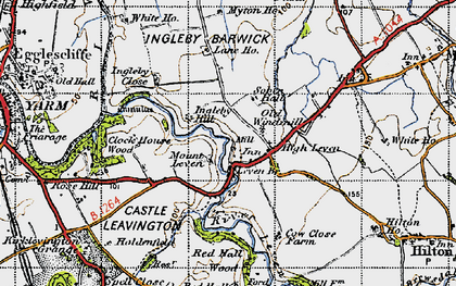 Old map of Leven Bridge in 1947